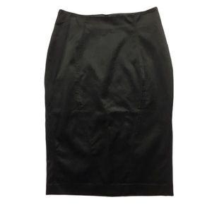 Bedo | Formal Black Fitted Midi Skirt